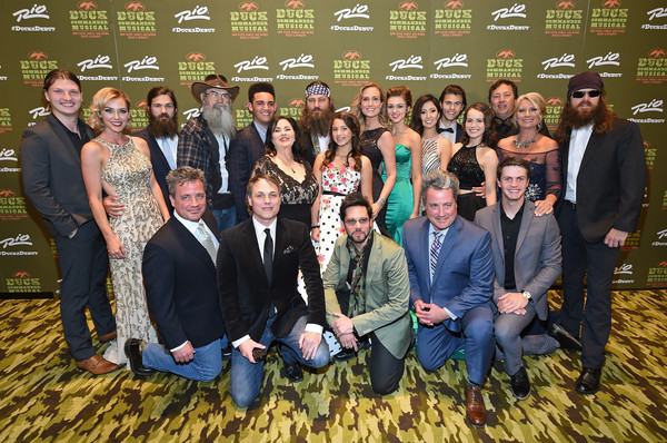 'Duck Commander Musical' Premiere at the Rio in Las Vegas [duck commander musical premiere,duck dynasty,social group,people,team,event,youth,tourism,steven morris,cole robertson,asa somers,korie robertson,composer,will robertson,l-r,the rio in las vegas]