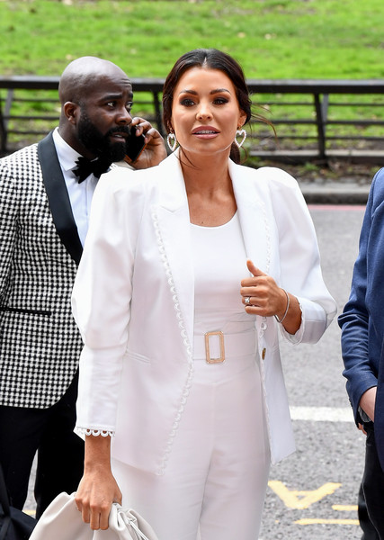 TRIC Awards 2020 - Red Carpet Arrivals [white,suit,people,formal wear,fashion,outerwear,tuxedo,blazer,event,street fashion,blazer,jessica wright,people,tric awards,tuxedo,fashion,white,suit,wear,red carpet arrivals,tuxedo,tuxedo m.,blazer,socialite,haute couture]