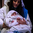 Jesus Christ Actors Perform In The Wintershall Nativity Dress Rehearsal