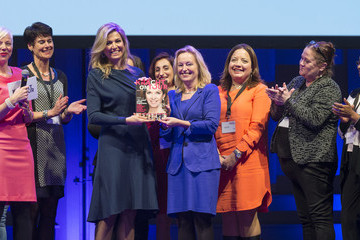 Jet Bussemaker Queen Maxima of the Netherlands Attends 'Kracht on Tour' Financial Support Workshops For Women In The Hague