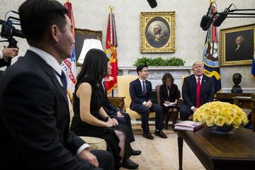 Ji Seong-ho President Trump Meets With North Korean Defectors