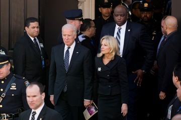 Jill Biden Funeral Held For One Of Two NYPD Officers Killed In Brooklyn