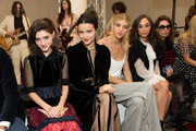 (L-R) Natalia Dyer, Julia Goldani Telles, Devon Windsor, Cara Santana and Cory Kennedy attend the Jill Stuart fashion show during New York Fashion Week on September 9, 2017 in New York City.