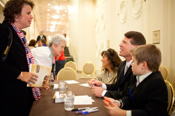 "Michelle Duggar Jim Bob & Michelle Duggar Of TLC's ""19 Kids and Counting"" Book Signing"