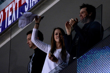 Jim Carrey 2014 NHL Stanley Cup Final - Game One