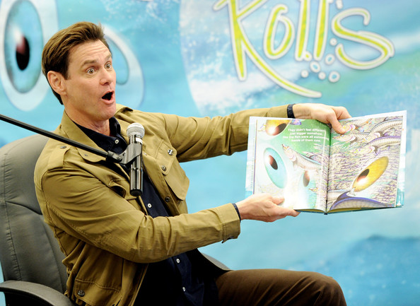 """Jim Carrey Book Signing For """"How Roland Rolls"""""""