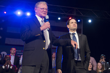 Jim Inhofe Marco Rubio Campaigns In Oklahoma City on Road to Super Tuesday