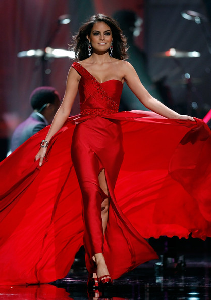 Jimena Navarrete Miss Mexico 2010, Jimena Navarrete, competes in the evening gown competition during the 2010 Miss Universe Pageant at the Mandalay Bay Events Center August 23, 2010 in Las Vegas, Nevada. Navarrete went on to be crowned the new Miss Universe.
