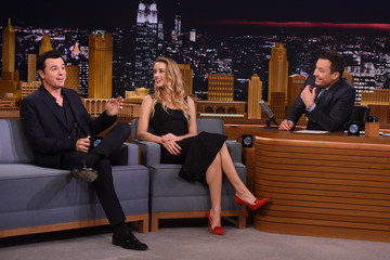 Jimmy Fallon Amber Heard Visits 'The Tonight Show Starring Jimmy Fallon'