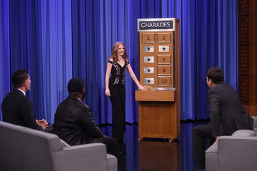 Jimmy Fallon Jessica Chastain Visits 'The Tonight Show Starring Jimmy Fallon'