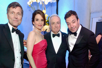 Jimmy Fallon Lorne Michaels Celebs at the Universal/NBC/E! Golden Globes Afterparty