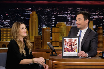 Jimmy Fallon Drew Barrymore Visits 'The Tonight Show Starring Jimmy Fallon'