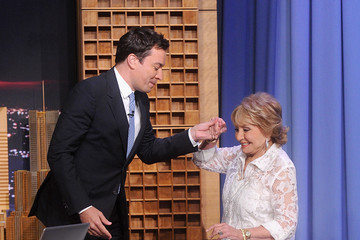 Jimmy Fallon Barbara Walters Visits 'The Tonight Show'