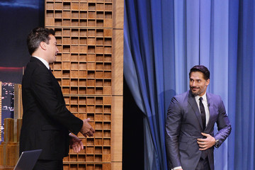 Jimmy Fallon Joe Manganiello Visits 'The Tonight Show'
