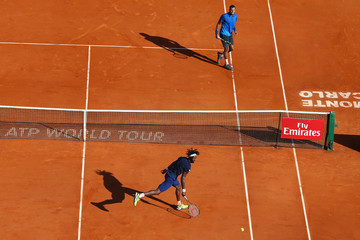 Jo-Wilfried Tsonga Gael Monfils ATP Masters Series: Monte Carlo Rolex Masters - Day Seven