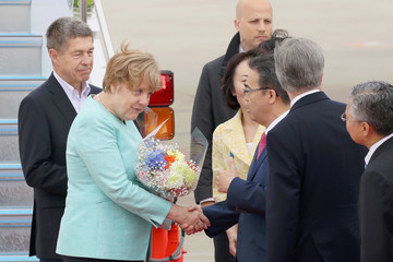 Joachim Sauer G7 Leaders Arrive In Japan For Summit