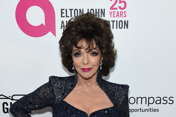 Joan Collins 26th Annual Elton John AIDS Foundation Academy Awards Viewing Party sponsored by Bulgari, celebrating EJAF and the 90th Academy Awards - Red Carpet