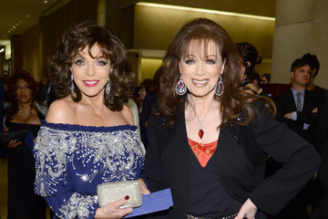 Joan Collins Jackie Collins The 56th Annual GRAMMY Awards - Pre-GRAMMY Gala And Salute To Industry Icons Honoring  Lucian Grainge - Red Carpet