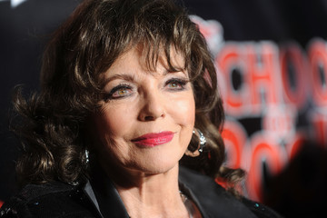 Joan Collins 'School of Rock' Broadway Opening Night - Arrivals and Curtain Call