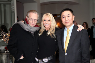 Larry King Joan Dangerfield Hosts Dinner Reception At Her Residence For Chinese Delegation's Official U.S. Visit