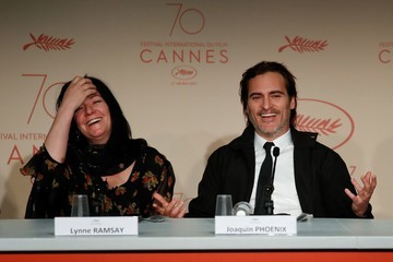 Joaquin Phoenix Lynne Ramsay 'You Were Never Really Here' Press Conference - The 70th Annual Cannes Film Festival