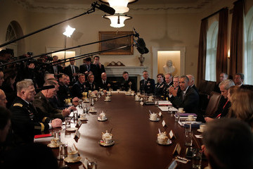 Joe Biden President Obama Meets With Combatant Commanders And Joint Chiefs Of Staff