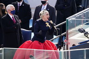 Lady Gaga sings the National Anthem during the inauguration ceremony on the West Front of the U.S. Capitol on January 20, 2021 in Washington, DC.  During today's inauguration ceremony Joe Biden becomes the 46th president of the United States.