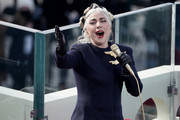 Lady Gaga performs the National Anthem during the 59th Presidential Inauguration for President-elect Joe Biden and Vice President-elect Kamala Harris on January 20, 2021 in Washington, DC.  During today's inauguration ceremony Joe Biden becomes the 46th president of the United States.