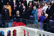 Lady Gaga performs the national anthem during the inauguration of U.S. President-elect Joe Biden on the West Front of the U.S. Capitol on January 20, 2021 in Washington, DC.  During today's inauguration ceremony Joe Biden becomes the 46th president of the United States.