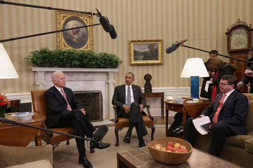 Joe Biden Obama Meets With New Defense Secretary Ashton Carter At White House