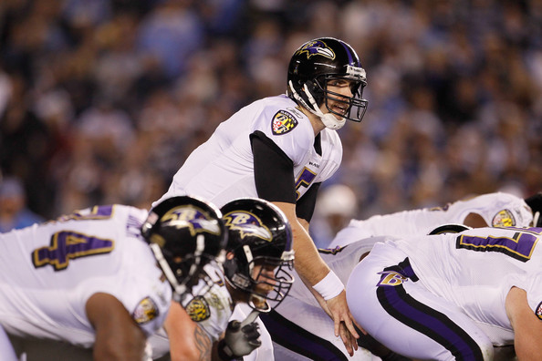 All eyes are on Joe Flacco. Photo by Jeff Gross/Getty Images