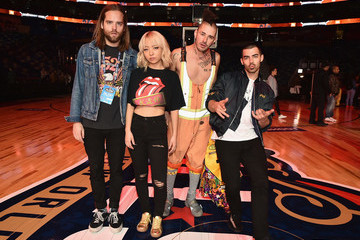 Joe Jonas Jack Lawless Celebrities Attend NBA All-Star Saturday Night