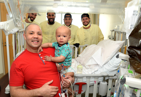 Boston Red Sox Pitchers Have A Ball With Patients At Boston Children's Hospital
