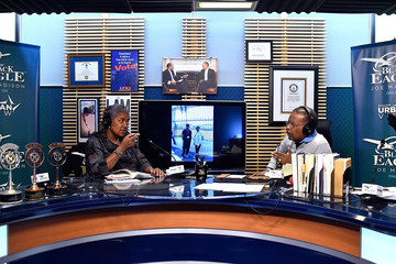 Joe Madison SiriusXM Host Joe Madison, The Black Eagle, Interviews Former DNC Chair Donna Brazile Live at SiriusXM Studios