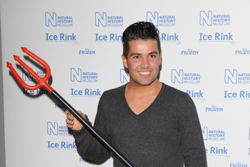 Joe McElderry Natural History Museum Ice Rink Launch Event
