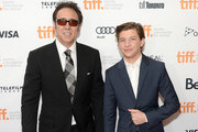 Actors Nicolas Cage (L) and Tye Sheridan arrive at the 'Joe' Premiere during the 2013 Toronto International Film Festival at Princess of Wales Theatre on September 9, 2013 in Toronto, Canada.