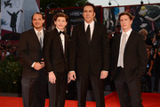 (L-R) Actors Ronie Gene Blevins, Tye Sheridan, Nicolas Cage and Director David Gordon Green attend the 'Joe' Premiere during The 70th Venice International Film Festival at Palazzo Del Cinema on August 30, 2013 in Venice, Italy.