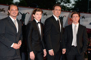 (L to R) Actors Ronnie Gene Blevins, Tye Sheridan, Nicolas Cage and director David Gordon Green attend the 'Joe' Premiere during The 70th Venice International Film Festival at Palazzo Del Cinema on August 30, 2013 in Venice, Italy.