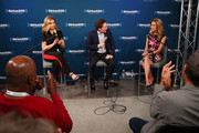 "(L-R) Victoria Osteen and Joel Osteen visit the SiriusXM Studios for its ""Town Hall"" Series, hosted by Kathie Lee Gifford on October 1, 2018 in New York City."