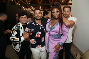 "(L-R) Harvey Guillen, Johnny Sibilly, Peppermint, and Max Emerson attends Joey Graceffa's YouTube Original Series ""Escape The Night"" VIP Escape Room Experience at UTA on August 08, 2019 in Beverly Hills, California."