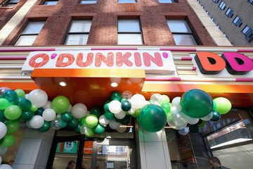 Joey McIntyre Dunkin' Rebrands To O'Dunkin' And Celebrates With Joey McIntyre Serving Free Irish Creme Coffee And Lattes To Guests In NYC