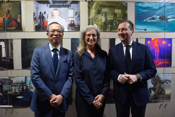 """Johan Jervoe Annie Leibovitz Attends Press Conference For """"WOMEN: New Portraits"""" Exhibition"""
