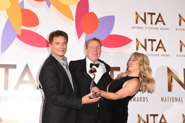 National Television Awards 2019 - Winners Room [get me out of here,event,award,photography,formal wear,ceremony,suit,award ceremony,white-collar worker,premiere,john barrowman,harry redknapp,celebrity\u00e2,emily atack,the bruce forsyth entertainment award,room,the o2 arena,england,national television awards]