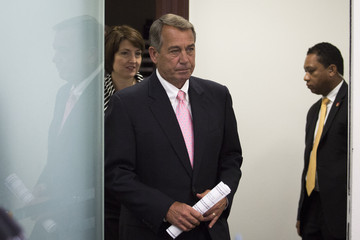 John Boehner House Republican Leadership Address the Press After Their Conference Meeting