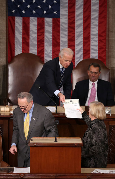 Joint Session Of Congress Counts Electoral College Votes In 2012 Pres. Election