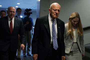 John Brennan Senate Intelligence Committee Holds Closed Hearing With Former Intel Chiefs On Russian Activities In Elections
