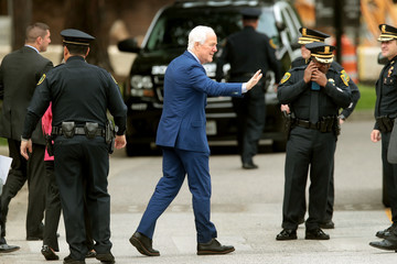 John Cornyn Mourners Pay Their Respects To Late First Lady Barbara Bush