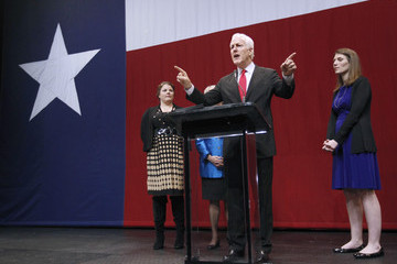 John Cornyn Texas Attorney General And Gubernatorial Candidate Greg Abbott Attends Election Night Election Rally