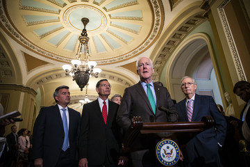 John Cornyn Senate Republicans And Democrats Deliver Remarks After Weekly Policy Luncheons