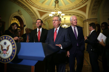 John Cornyn Republican Senators Address the Media After Their Weekly Policy Luncheons